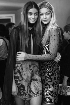 Taylor Marie Hill & Gigi Hadid - Backstage at Emilio Pucci, Fall 2015 RTWPhotographs by: Piczo for i-D Magazine