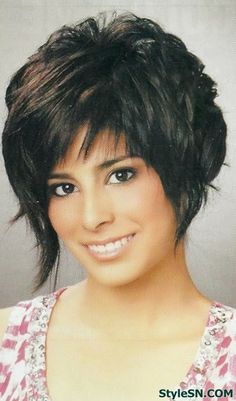 Layered bob hairstyles with bangs 2014 -StyleSN