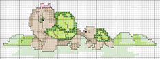 Una Locura de ideas !!!  de punto de cruz: Tortuguitas, gráficos en punto de cruz.
