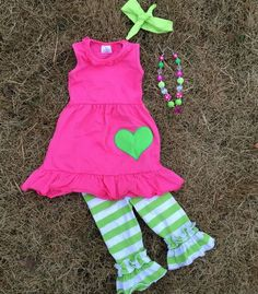 STRAWBERRY KIWI SET Price: $34.99, Free Shipping Options: 2T, 3T, 4T, 5, 6, 7 click to purchase