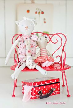 Minty House likes Maileg, Maileg cat, mice, little rabbit by Maileg, Red, for kids