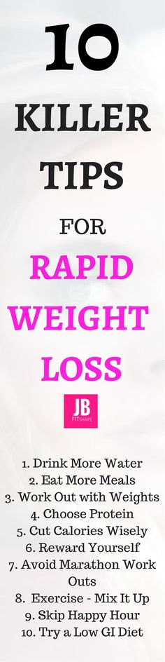 10 Killer Tips For Rapid Weight Loss Fitness Motivation   Diet   Weight Loss Killer Tips   Rapid Weight Loss https://jbfitshape.wordpress.com/2017/05/06/10-killer-tips-for-rapid-weight-loss/