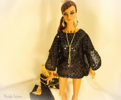 "Fashion Royalty FR16  OOAK Outfit ""Black Gold"" by Natalia"