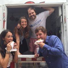 Reveal no. 1 down and we celebrate with a hot cookie and ice cream sandwich from @pokeyoswaco #yesssss #seasonthree @hgtv