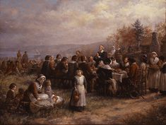 """""""Jennie Brownscombe Co-Founder of New York Art Students League, 'Thanksgiving'. An American classic. Real History Of Thanksgiving, Free Thanksgiving Cards, Thanksgiving Facts, Thanksgiving Pictures, Thanksgiving Greetings, First Thanksgiving, Thanksgiving Celebration, Thanksgiving Traditions, Plymouth Colony"""