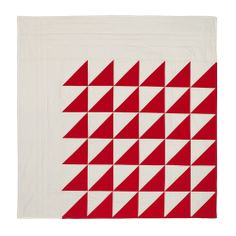 Red + White II, diagonal triangle variation by S. D. Evans