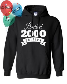 2000 Birthday Hoodie 16 Year Old Limited by BirthdayBashTees