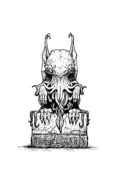 Estatuilla de Cthulhu by Les Edwards