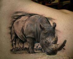 Keep The Legend Alive With These Powerful Rhino Tattoos! Animal Sleeve Tattoo, Animal Tattoos, Sleeve Tattoos, Neue Tattoos, Body Art Tattoos, Cool Tattoos, Tatoos, Rhino Tattoo, Elephant Tattoos