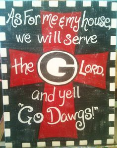"""Original Team Sports """"In this House"""" Cross Art Canvas or Wood Painting on Etsy, $45.00"""