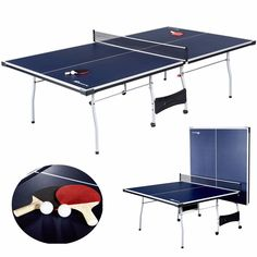 Tennis Table Ping Pong FOLDABLE 15mm Official Tournament Size FREE Paddles Balls #EastPointSports