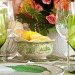 Lemon and Green settings by JMC Charleston - 2012 Spoleto Luncheon at Thomas Bennett House - Photo by JWKPEC
