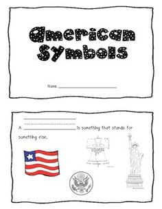 This American Symbols booklet visually reinforces the vocabulary we are learning in our social studies unit on America.I printed in black and white and let my students color each page. National Symbols Kindergarten, Kindergarten Social Studies, Social Studies Classroom, Social Studies Activities, Teaching Social Studies, Teaching History, Classroom Fun, In Kindergarten, Study History