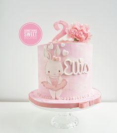Pink bunny girl buttercream birthday cake Something Sweet Malahide Cakes Fondant Cupcakes, Buttercream Birthday Cake, Fun Cupcakes, Bunny Birthday Cake, First Birthday Cakes, Birthday Cupcakes, 2nd Birthday, Birthday Ideas, Tortas Baby Shower Niña
