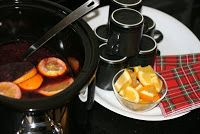 Crockpot mulled wine. I love this recipe.