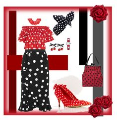 """Polka Dots - VI"" by mary-kay-de-jesus ❤ liked on Polyvore featuring Topshop, Dolce&Gabbana, Moschino, Caroline Constas, Lulu in the Sky and Hermès"