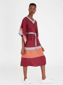AMANDA LAIRD CHERRY Ramatla Linen Dress Multi-colour