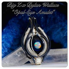 """Big Z x Dylan Wallace Wirewrap """"Space Amulet"""" Pendant Collaboration  $695 at TheHeadyHive.com"""