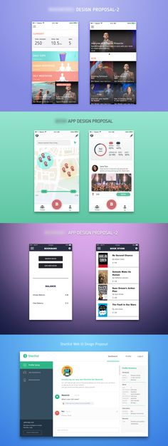 Rejected mobile app designs but still proud of them.