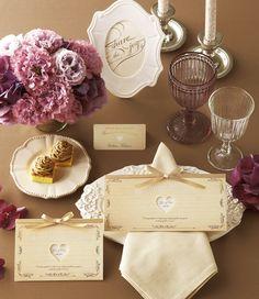 woodgrain natural/Paper item/Wedding/Invitation/Name plate http://www.piary.jp/paper/paper_series/woodgrain_series/
