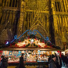 Christmas Market: Place de la Cathédrale in Strasbourg was included on our AMA Waterways Christmas on the Rhine. Unfortunately, we didn't see it lit up at night. How beautiful!