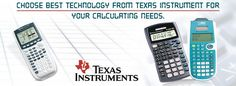 #Choose #BestTechnology from #Texas #Instrument for your #calculating needs.