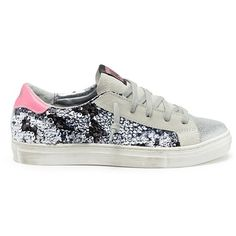 0ee2cbaf72c2d9 p448 Sequinned panel leather kids sneakers ( 160) ❤ liked on Polyvore  featuring shoes