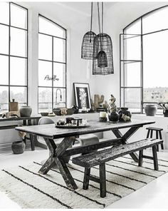 Uploaded by Find images and videos about inspiration, home and decoration on We Heart It - the app to get lost in what you love. Beautiful Home Gardens, Beautiful Homes, House Beautiful, Industrial Architecture, Natural Wood, Dining Table, Dining Room, Home And Garden, Rustic