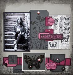 """Une page """"Souvenirs"""" pour Embelliscrap"""