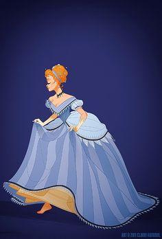 H i s t o r i c a l D i s n e y P r i n c e s s e s & Q u e e n s by shoomlah - Cinderella