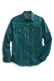 Tin Haul® Men's Long Sleeve Micro Diamond Print Snap Shirt