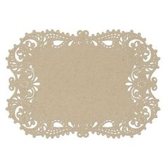 Laser Cut Placemats - Kraft | Place Mats at Invitations By Dawn