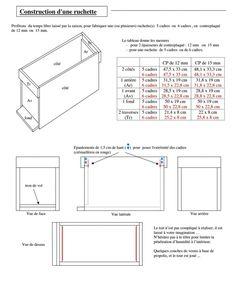 Ruche-Apiculture: Plan Ruchette Dadant 6 cadres (1/1) - Ruche-Apiculture
