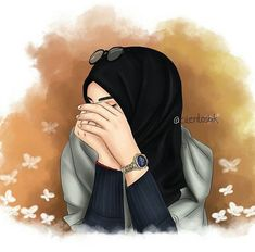 Closed girl drawing - hijab girl drawing / hijab anime drawing 'hijabA scarf is a vital part inside garmen Hijab Anime, Anime Muslim, Hijabi Girl, Girl Hijab, Orange Anime, Hijab Drawing, Drawing Art, La Ilaha Illallah, Islamic Cartoon