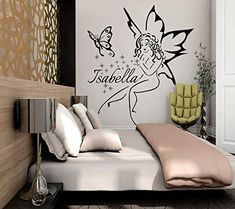 Name Wall Decals Fairy Decal Vinyl Star Sticker For Girl Nursery Bedroom Decor Art Murals MN887 * Read more reviews of the product by visiting the link on the image. (This is an affiliate link) #BabyGadgets