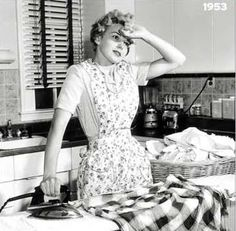 Real life in the 1950's wife overwhelmed