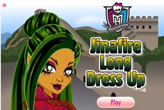 Monster High #Jinafire Long Dress Up Game