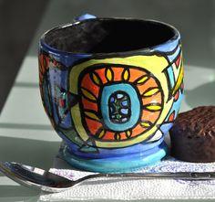 Sunshine mug by potterygod on Etsy