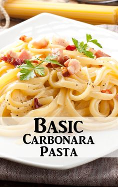 Back to basics! It doesn't get easier than Rachael Ray's Carbonara Pasta. - I added kale & tomatoes for a little veggie in my pasta :)