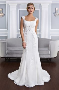 Lillian West, Spring 2015...Beautiful, love the details. Get that designer look without the designer $$$, have it custom-made. Pick 1 or 2 details to design that unique look.  Try different fabric & embellishments ideas to fit your wedding theme.