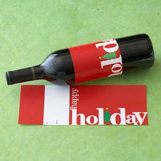 Giving wine as a gift to your hostess this season? Free Christmas Wine Labels! Download, print, cut & wrap! xo