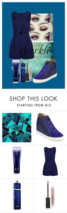 """""""""""Everyting is Blue..."""" ~ Halsey"""" by emmalineavery ❤ liked on Polyvore featuring Giuseppe Zanotti, Oribe, Christian Dior, Burberry, WALL, Blue and halsey"""