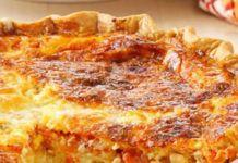 Quiche au Thon et Macédoine de Légumes WW Weigth Watchers, Ww Desserts, Moussaka, Lasagna, Entrees, French Toast, Sandwiches, Food And Drink, Healthy Recipes