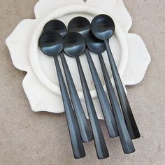black coffee spoons