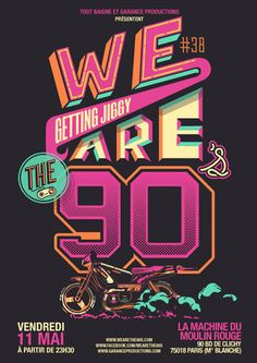 5x2 places sont à gagner sur madmoiZelle pour participer à la grande soirée We Are The 90's du 11 mai 2012 !