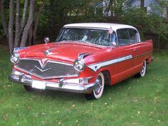 1957 Hudson Hollywood Hornet. Although heavier-looking than the '55 I pinned, it no doubt had better balance due to the then all-new AMC V-8 replacing the heavy Packard engine.