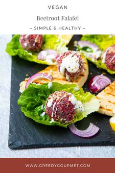 Learn how to make homemade beetroot falafel instead of ordering it as a takeaway. These vegan falafels are best served in wraps and salads. Gourmet Recipes, Vegetarian Recipes, Healthy Recipes, Delicious Recipes, Vegetarian Lunch, Vegetarian Dinners, Vegan Meals, Vegetable Recipes, Vegan Food
