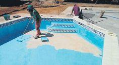 Backyard Pool Landscaping, Swimming Pools Backyard, Above Ground Pool, In Ground Pools, Piscina Diy, Piscina Rectangular, Pool Paint, Pool Shade, Inside Pool