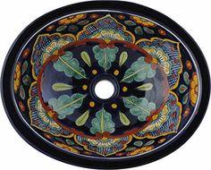 Tierra y Fuego Ceramic Bathroom Sink - Tepic - Oval Self-Rimming Tierra y Fuego http://www.amazon.com/dp/B00VZ4E2IG/ref=cm_sw_r_pi_dp_-i9Mvb05CF8Q4