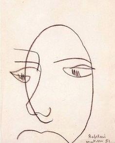 #Matisse ~ Portrait de Rabelais, 1951
